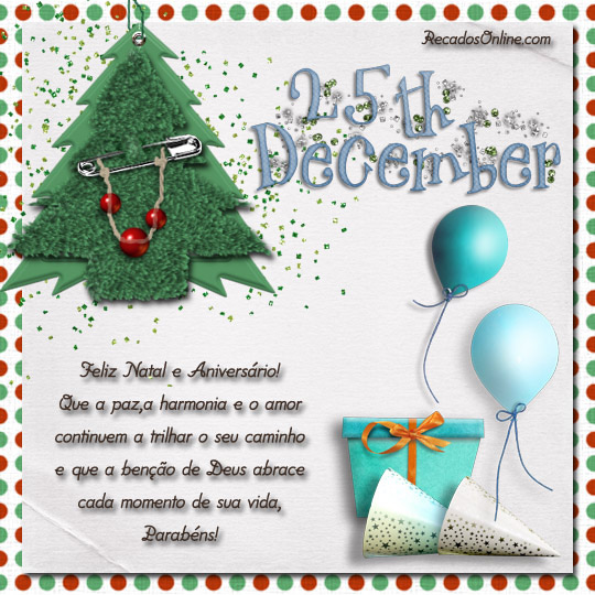 25th december Feliz natal e...