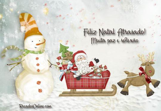 Feliz Natal Atrasado! Muita...