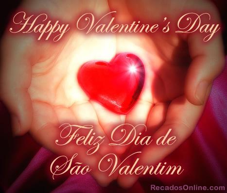 Happy Valentine's Day Feliz Dia de São Valentim
