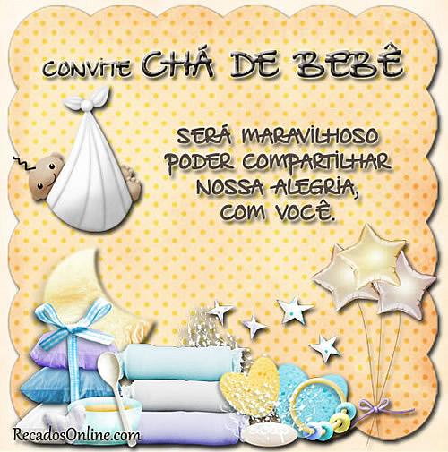 Convite Chá de Bebê Será maravilhoso poder compartilhar nossa alegria com você.