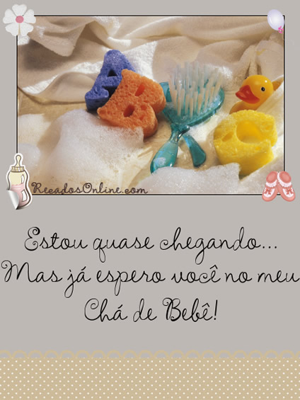 Convites para Chá de Bebê - Imagens, Mensagens e Frases para Facebook