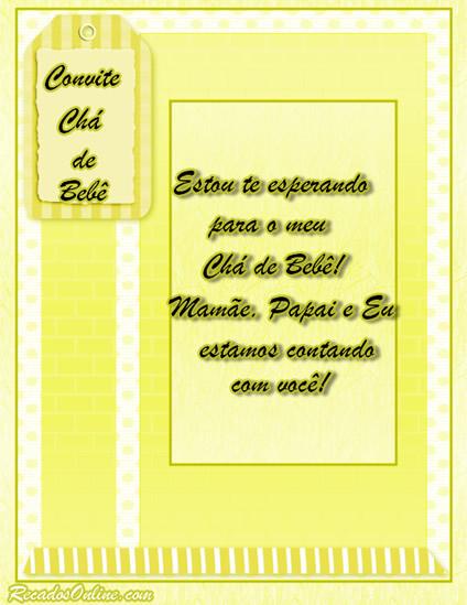 Convites para Chá de Bebê Imagem 4