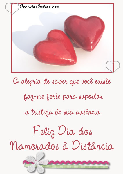 Dia dos Namorados a Distância