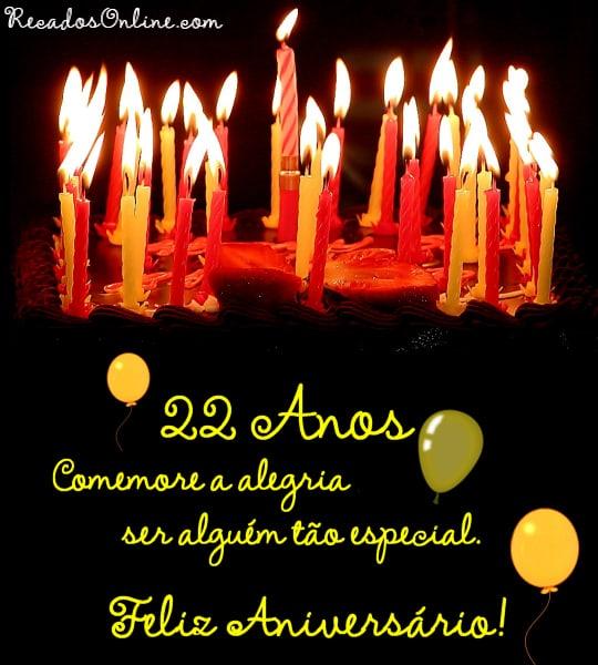 22 anos Comemore a alegria ser...