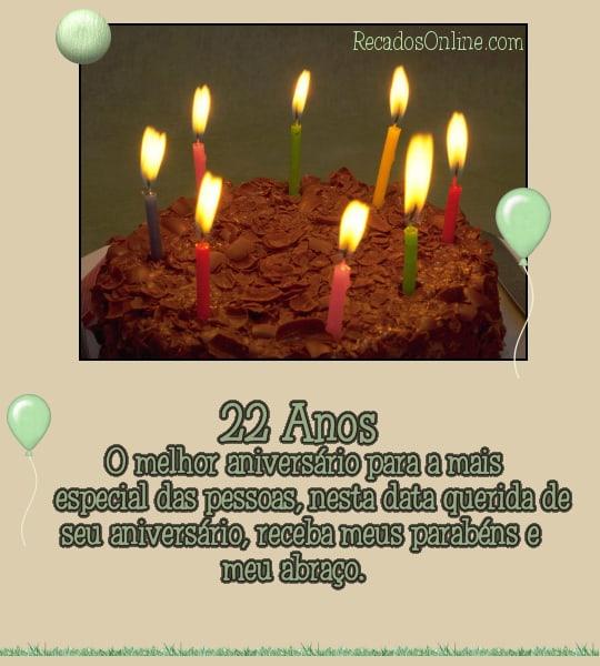 22 anos O melhor aniversário para a...