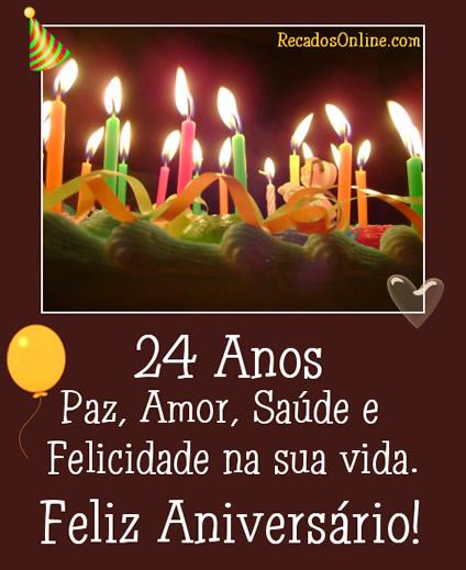 24 anos Paz, amor...