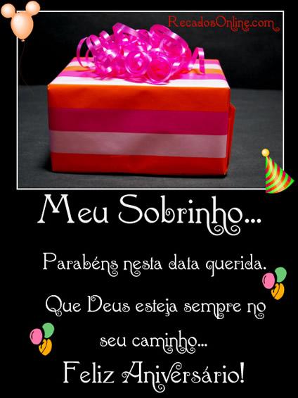 Meu Sobrinho Parabéns nesta data querida. Que Deus esteja sempre no seu caminho. Feliz Aniversário!