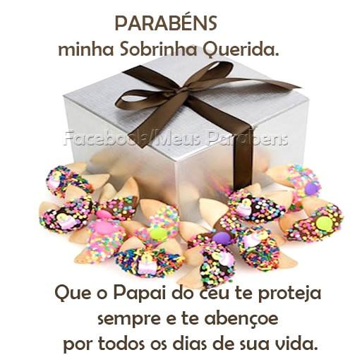 Parabéns, minha Sobrinha Querida. Que o Papai do Céu te proteja sempre e te abençoe por todos os dias de sua vida.