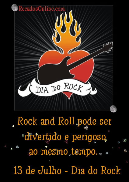 Dia do Rock Rock and Roll pode...