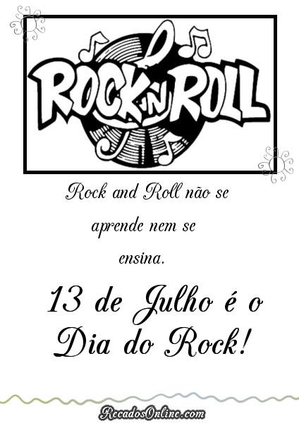 Rock and Roll não se...