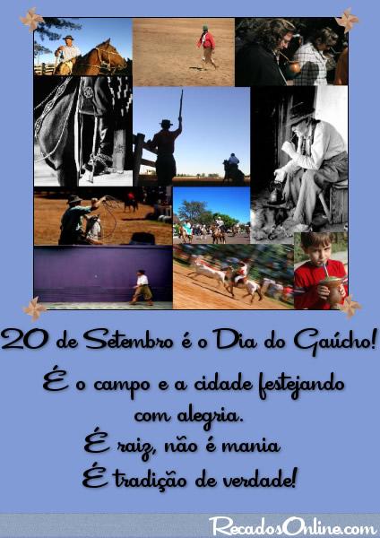 20 de Setembro é o Dia do Gaúcho! É o campo e a cidade festejando com alegria. É raiz, não é mania. É tradição de verdade!