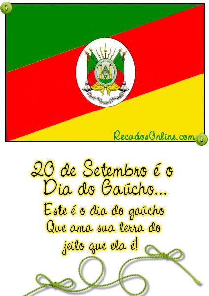 20 de Setembro é o Dia do Gaúcho... Este é o Dia do Gaúcho Que ama sua terra do jeito que ela é!