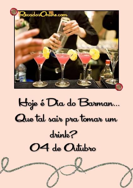 Hoje é Dia do Barman...