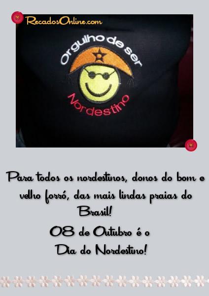 Para todos os Nordestinos, donos do bom e velho forró, das mais lindas praias do Brasil. 8 de Outubro é o Dia do...
