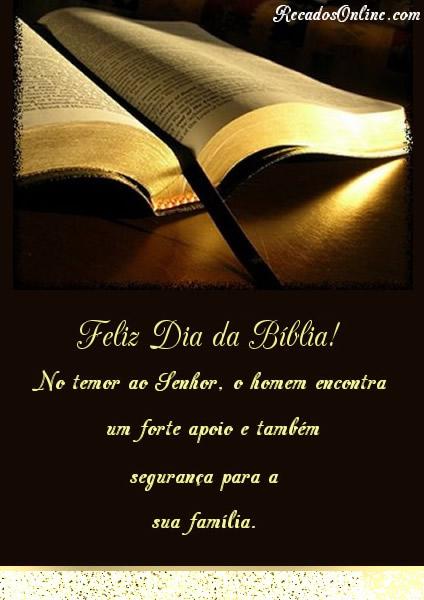 Feliz Dia da Bíblia! No...