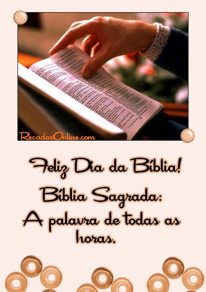 Feliz Dia da Bíblia!...