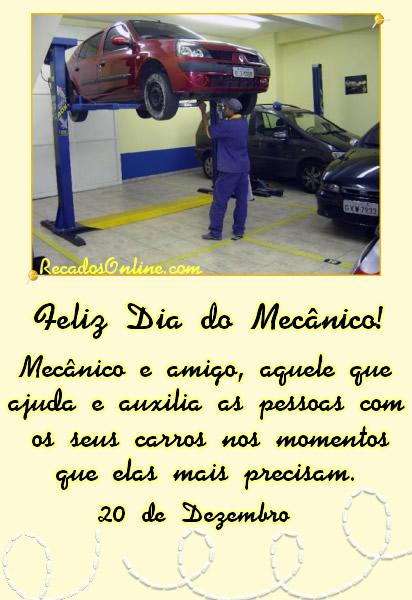 Feliz Dia do Mecânico...