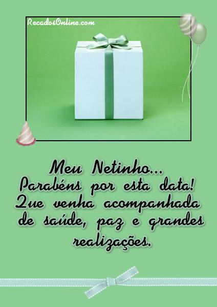 Meu Netinho, parabéns por esta data!...