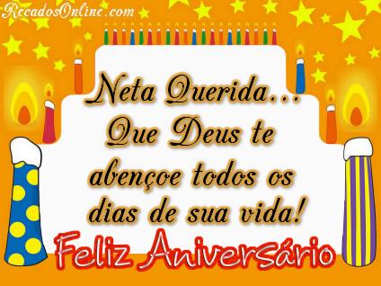 Neta querida que Deus te abençoe todos os dias de sua vida! Feliz aniversário.