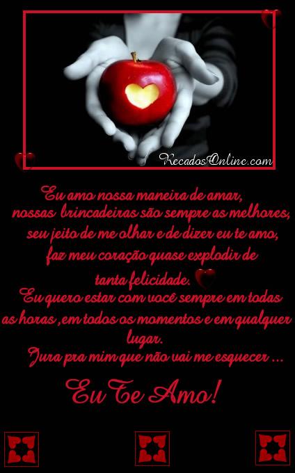 Eu amo nossa maneira de amar, nossas...