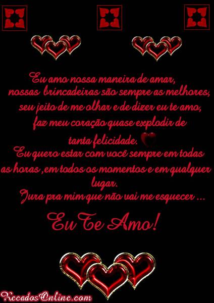 Eu amo nossa maneira de amar...