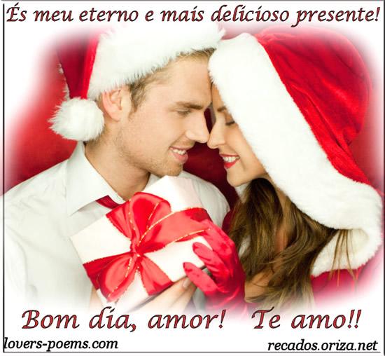 És meu eterno e mais delicioso presente! Bom dia, amor! Te amo!!
