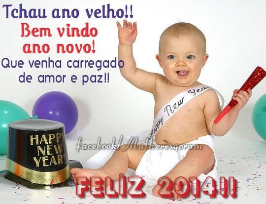 Tchau ano velho!! Bem vindo ano novo! Que venha carregado de amor e paz!! Feliz 2014!!