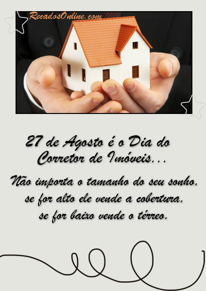 27 de Agosto é o Dia do...
