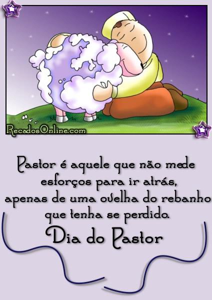 Pastor é aquele que não mede esforços...