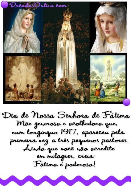 Dia de Nossa Senhora de Fátima Imagem 8