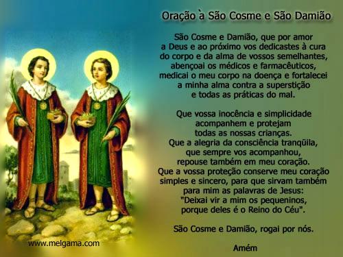 Oração a São Cosme e São Damião São Cosme e Damião, que por...