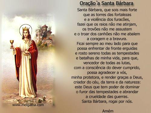 Dia de Santa Bárbara Imagem 1