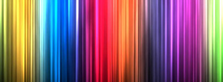 Capa para Facebook com listras de cores do arco-íris