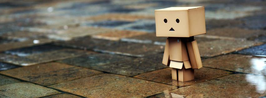 Capa para Facebook de boneco de papelão da Amazon