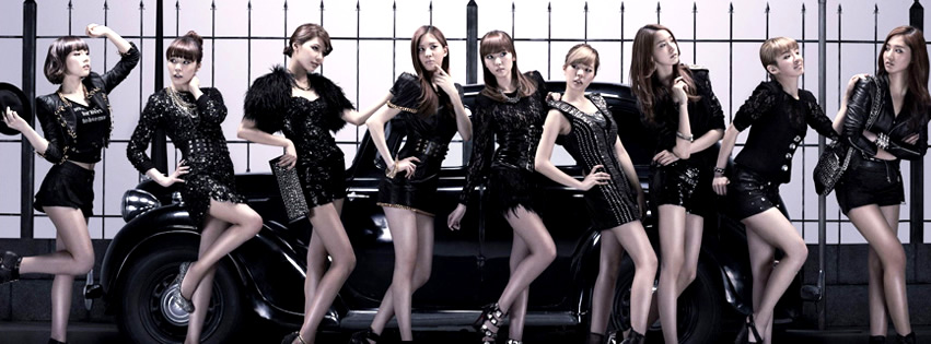 Capa para Facebook das Girls Generation em Mr. Taxi