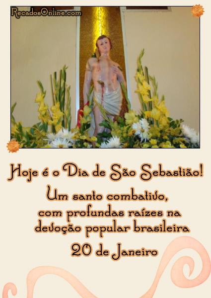 Hoje é o Dia de São Sebastião! Um santo combativo, com profundas raízes na devoção popular brasileira. 20 de Janeiro