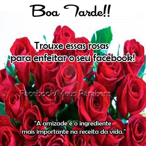 Boa Tarde Facebook Imagem 1