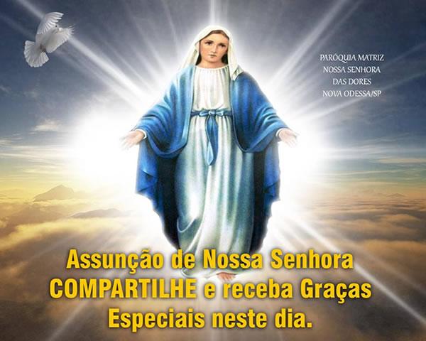 Mensagens De Nossa Senhora Para Facebook: Dia De Nossa Senhora Da Assunção