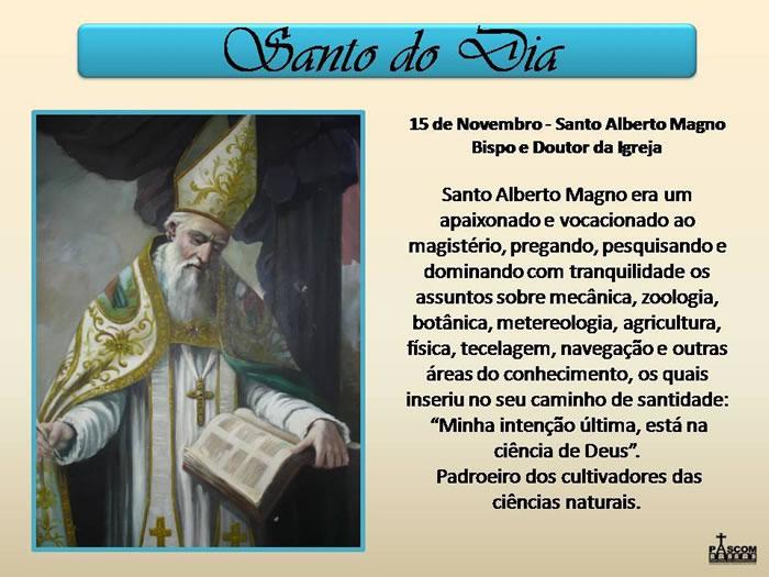 Dia de Santo Alberto Magno Imagem 2