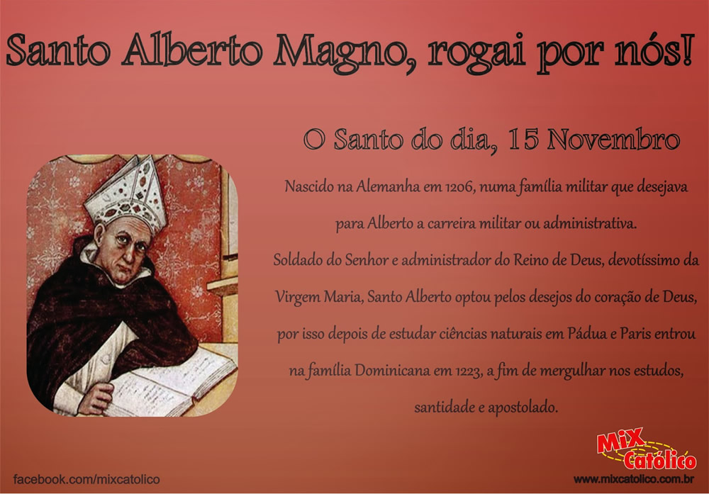 Dia de Santo Alberto Magno imagem 4