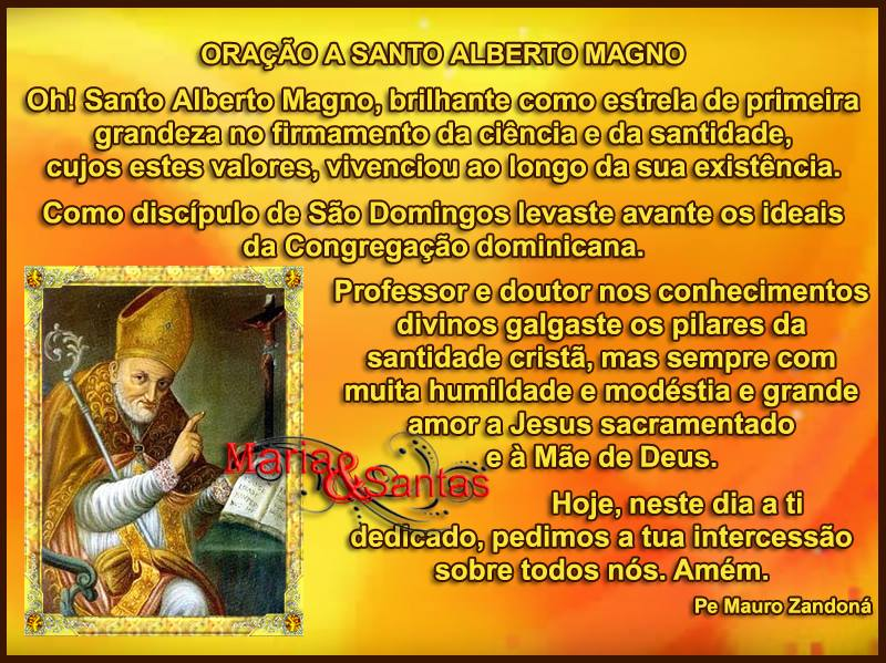 Dia de Santo Alberto Magno Imagem 1