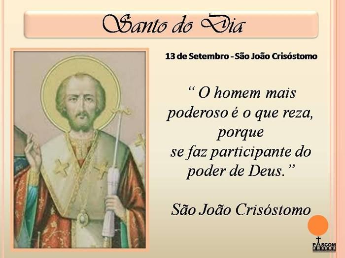 Dia de São João Crisóstomo Imagem 1