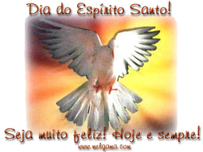 Dia do Espírito Santo Seja muito feliz! Hoje e sempre!