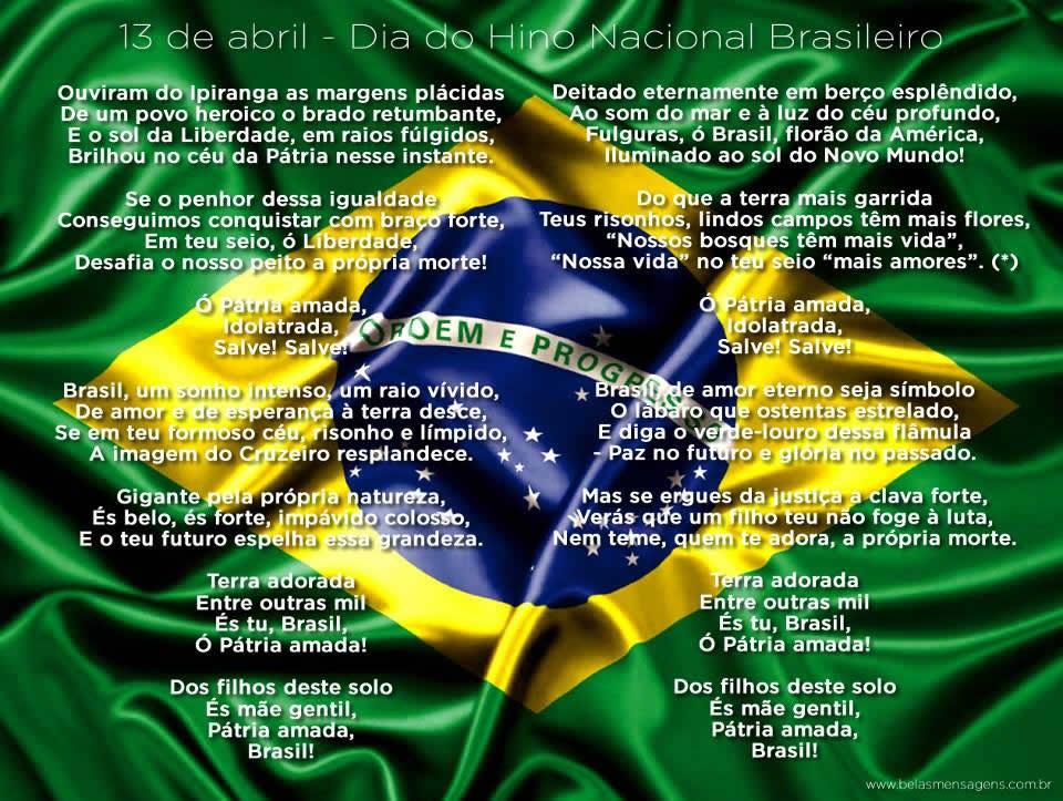 Dia do Hino Nacional Brasileiro Imagem 2