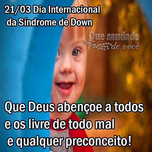 Dia Internacional da Síndrome de Down Imagem 1